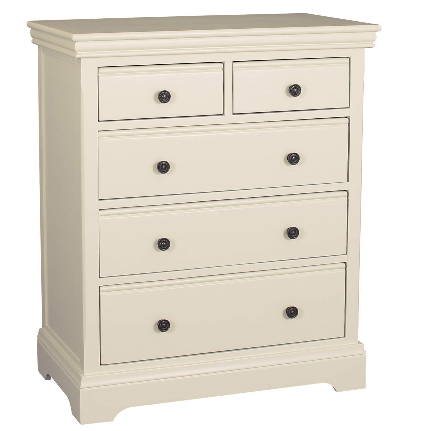 Bedroom Chests Of Drawers: Ivory Solid Wooden 3 + 2 Drawer Chest Of Drawers Bedroom