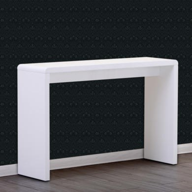 Modern white high gloss wide console table ebay for Modern white lacquer console table