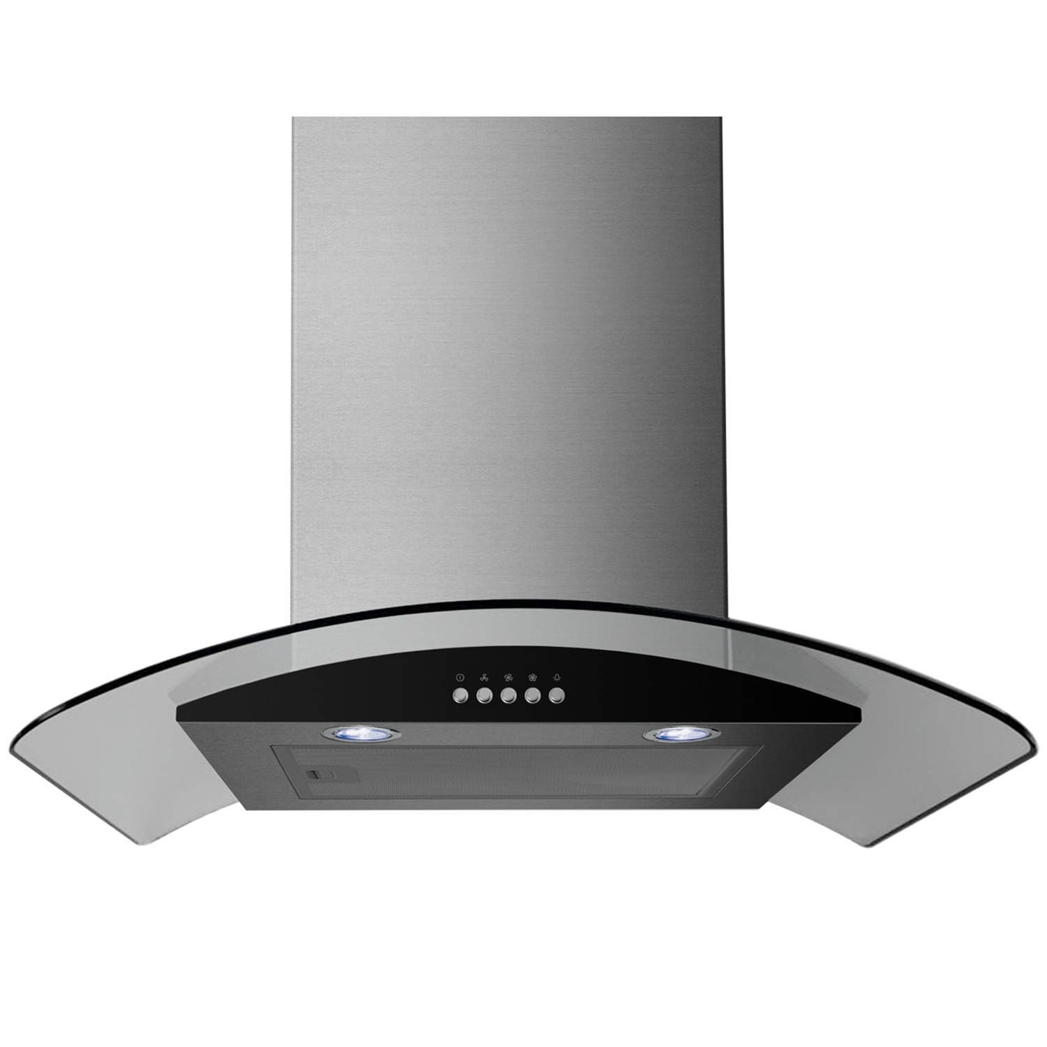 Curved Glass Stainless Steel Chimney Cooker Hood Extractor Fan eBay #545B77