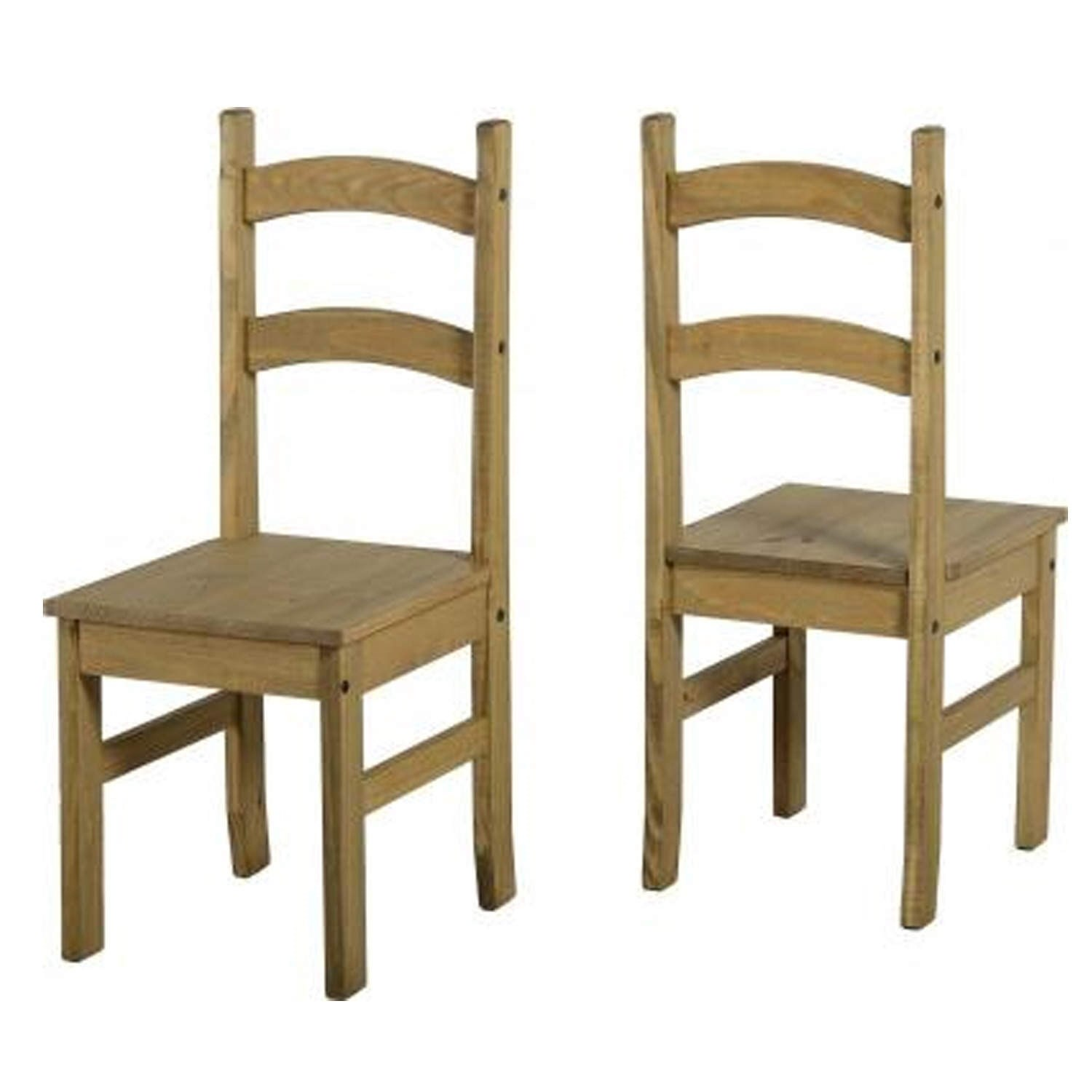 Corona Solid Pine Pair Of Low Back Dining Chairs EBay