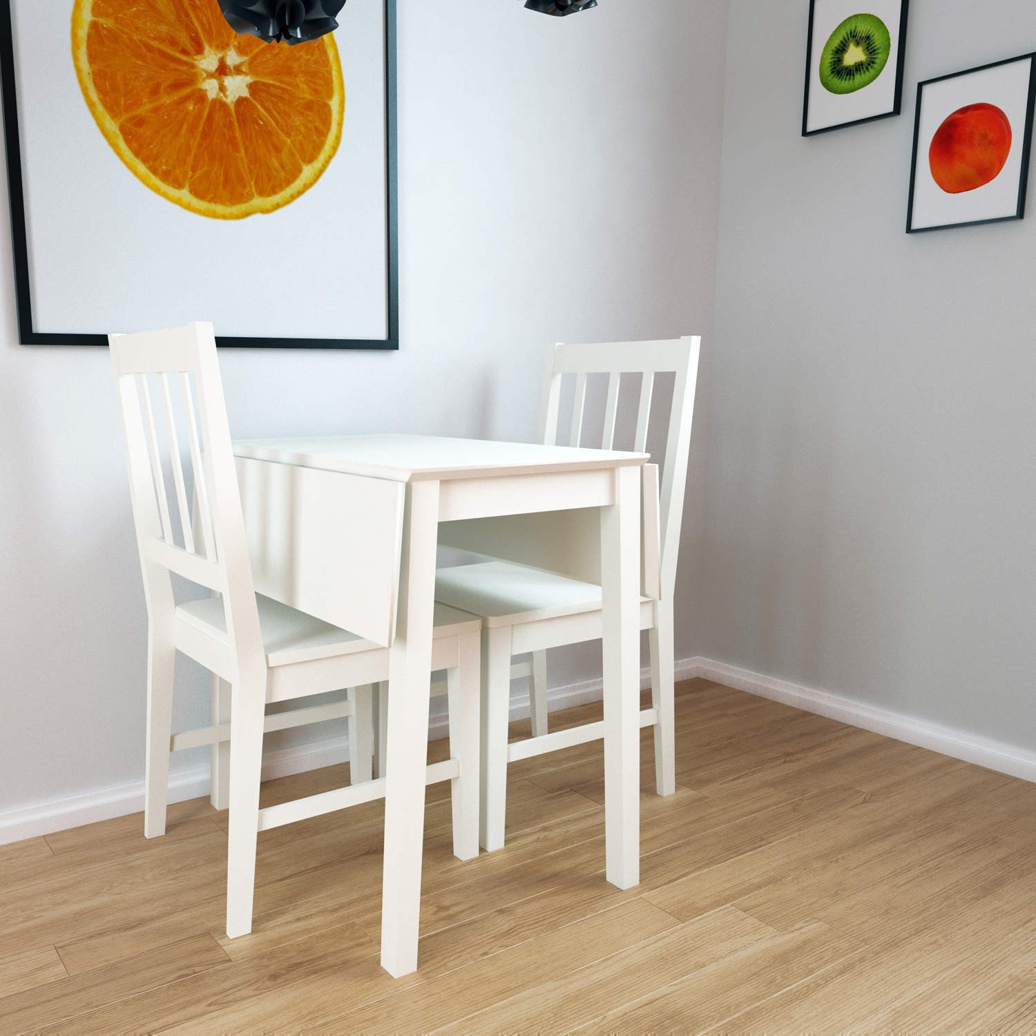 New haven drop leaf dining table in stone white nha011 ebay for White dining table with leaf