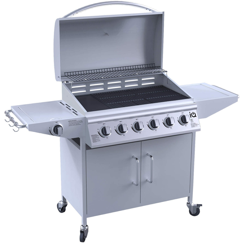 Gas Grill Accessories ~ Iq gas burner grill bbq barbecue w side