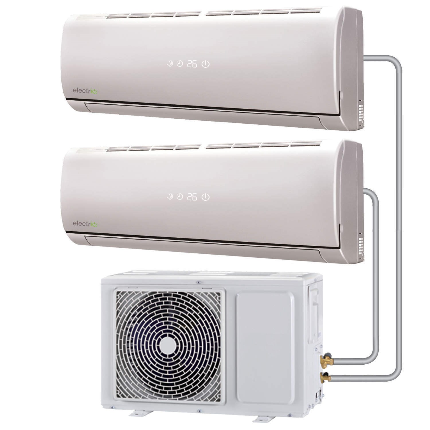 Multi split 18000 BTU Inverter Air Conditioner system with sin eiq  #70645B