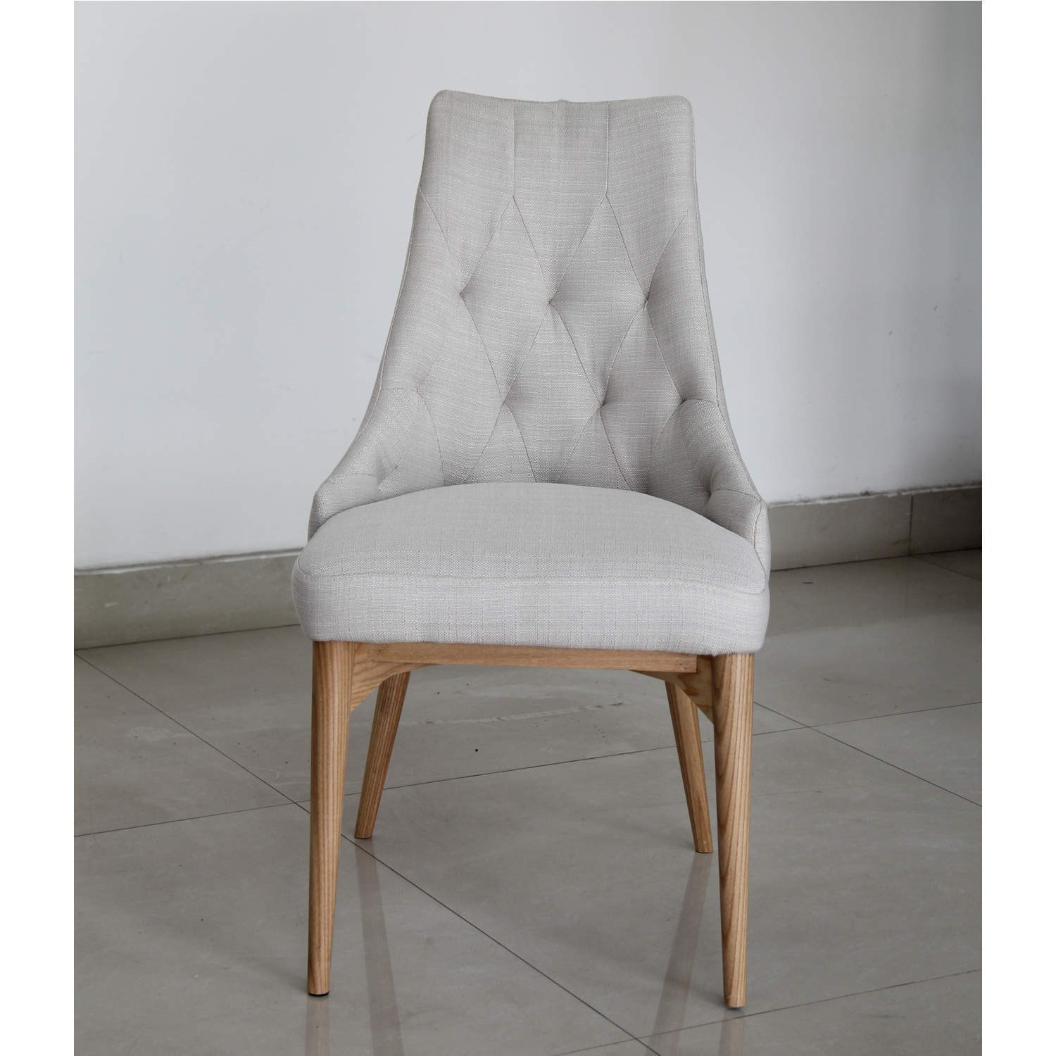 Single Stone Upholstered Dining Chair Wooden Legs EBay