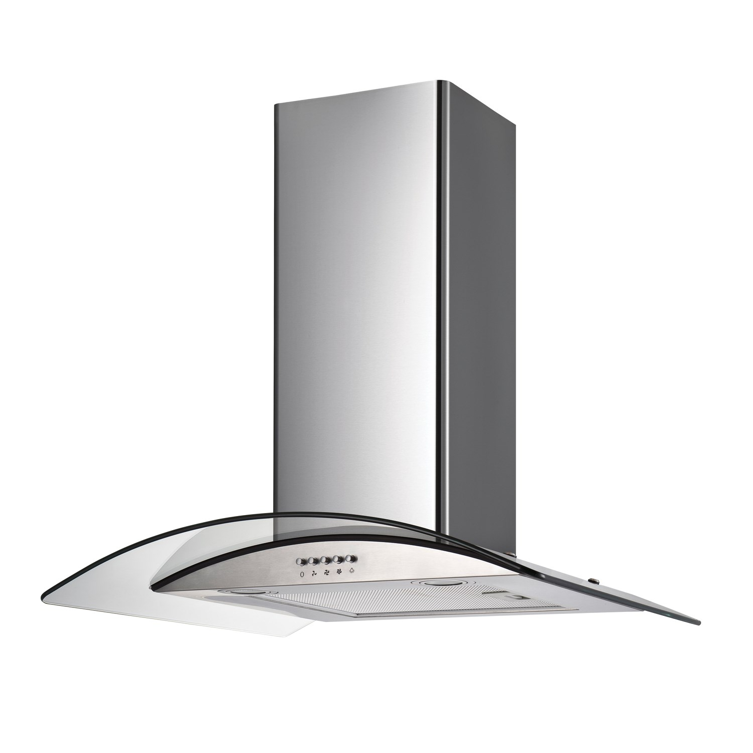 Cooker Hood With A Window ~ Electriq cm curved glass stainless steel chimney cooker