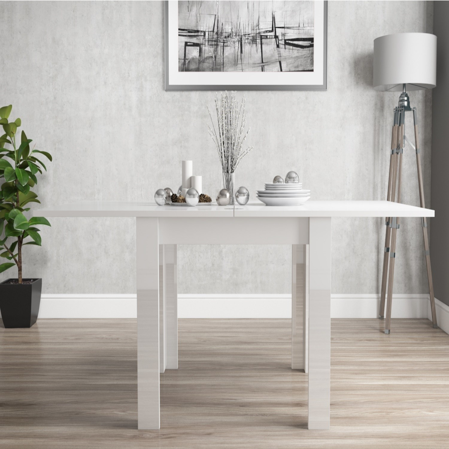 white high gloss flip top dining table ebay. Black Bedroom Furniture Sets. Home Design Ideas