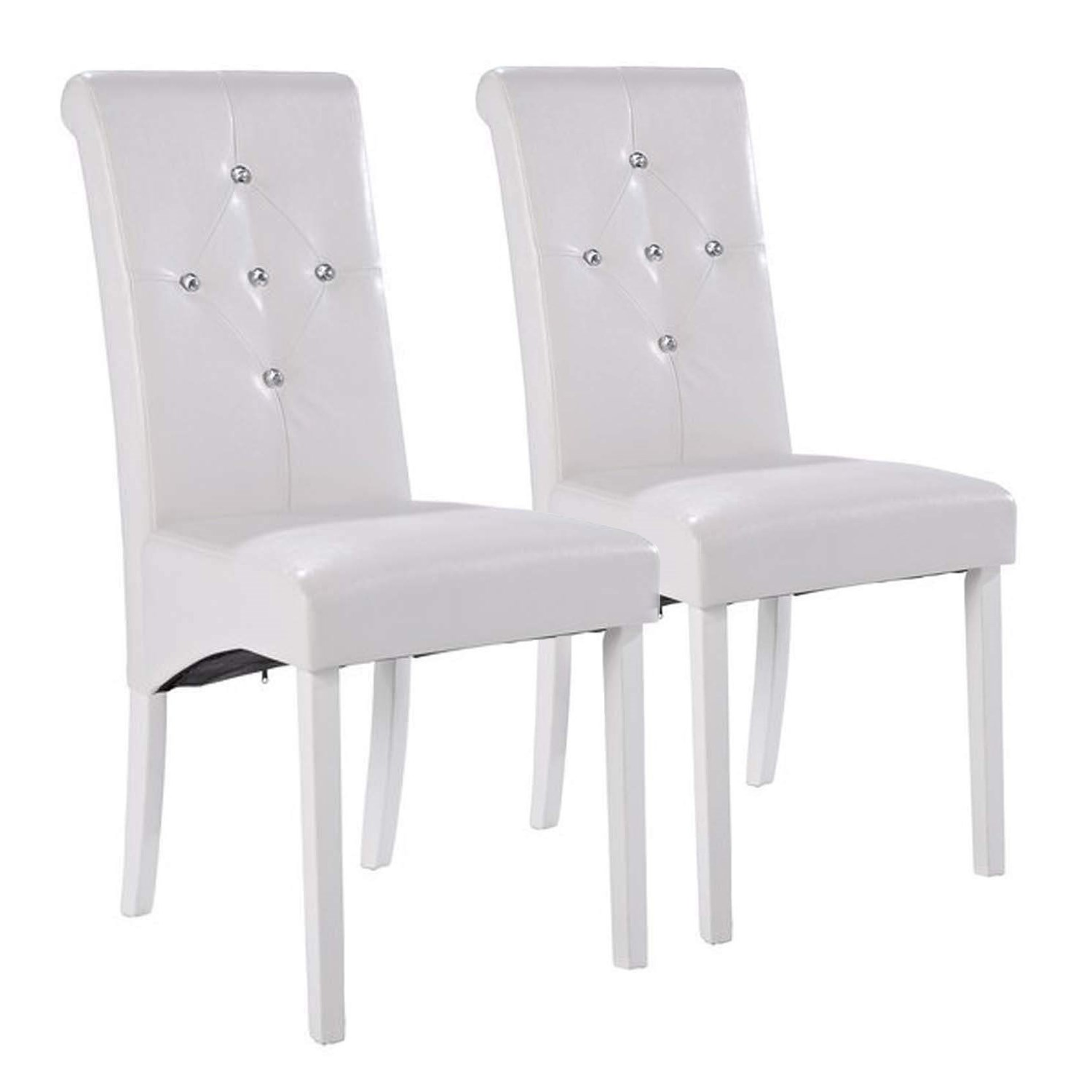 Glamorous pair of lpd monroe diamante dining chairs in for White dining chairs