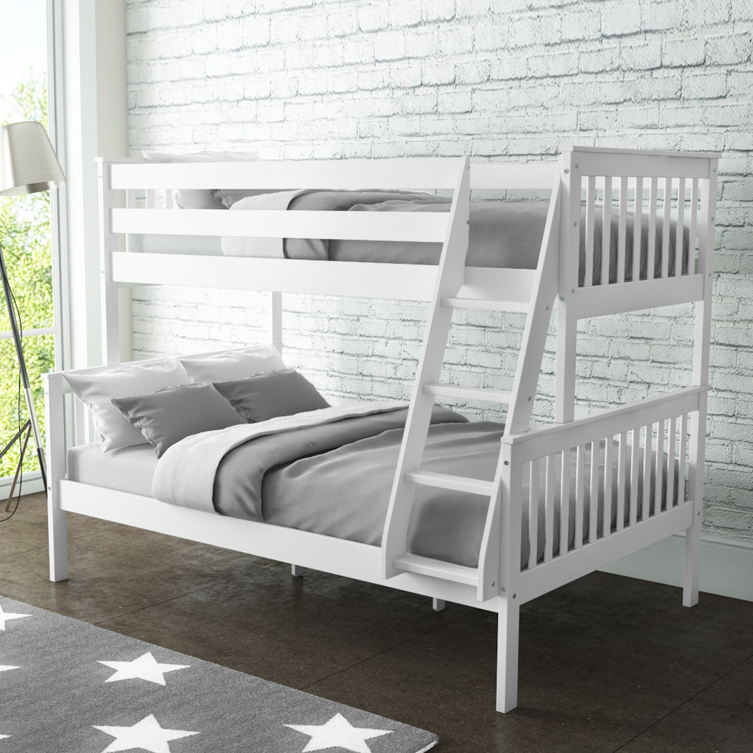 Oxford Triple Bunk Bed In White Small Double Oxf013 Ebay