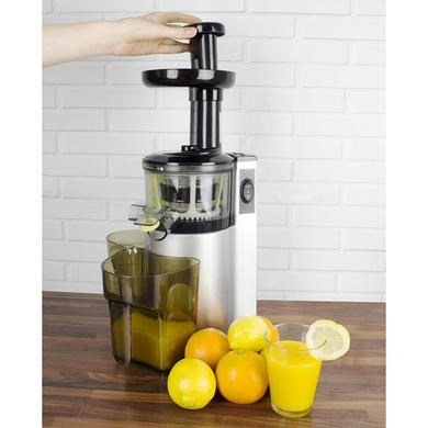 ElectriQ vertical Slow Masticating Juicer Fruit vegetable Juice Extractor eBay