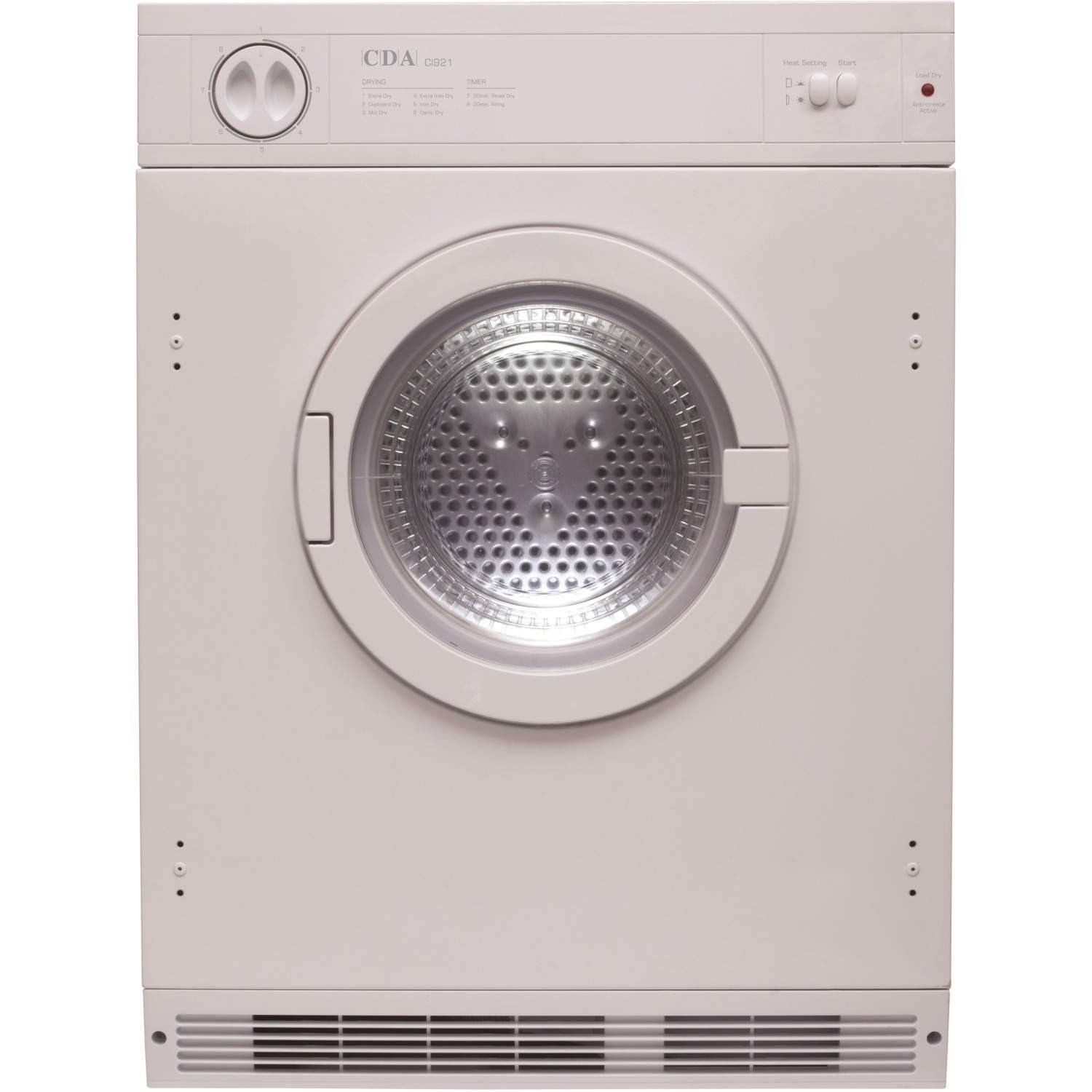 Non Vented Dryer ~ Cda ci kg integrated vented tumble dryer white