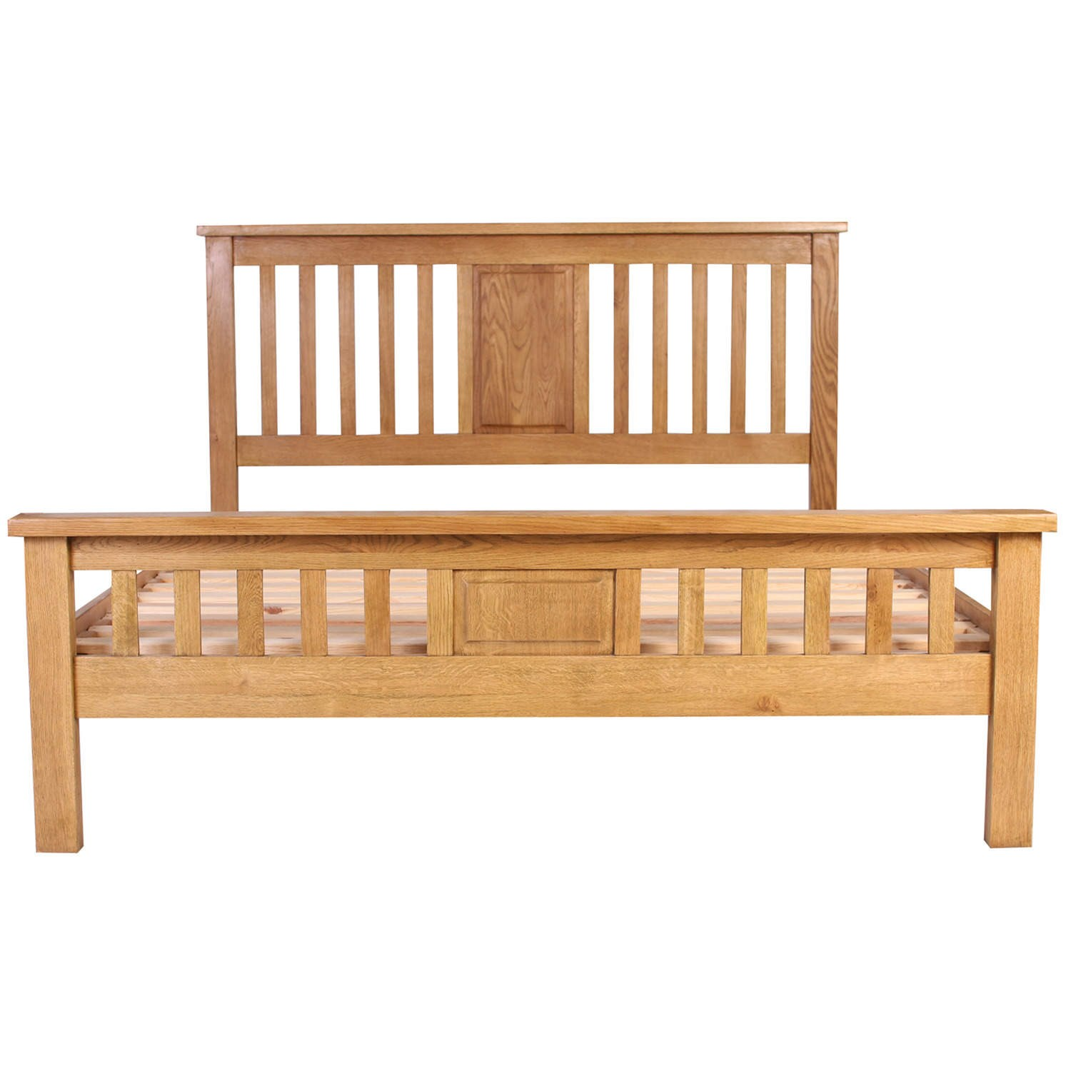 Rustic solid oak kingsize 5 39 0 5ft saxon bed frame strong Rustic bed frames