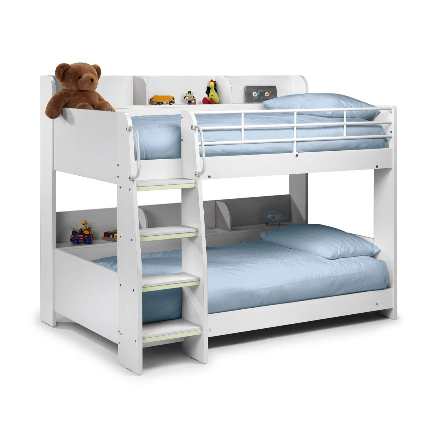 Modern kids white wooden julian bowen domino bunk bed for Wooden bunkbeds
