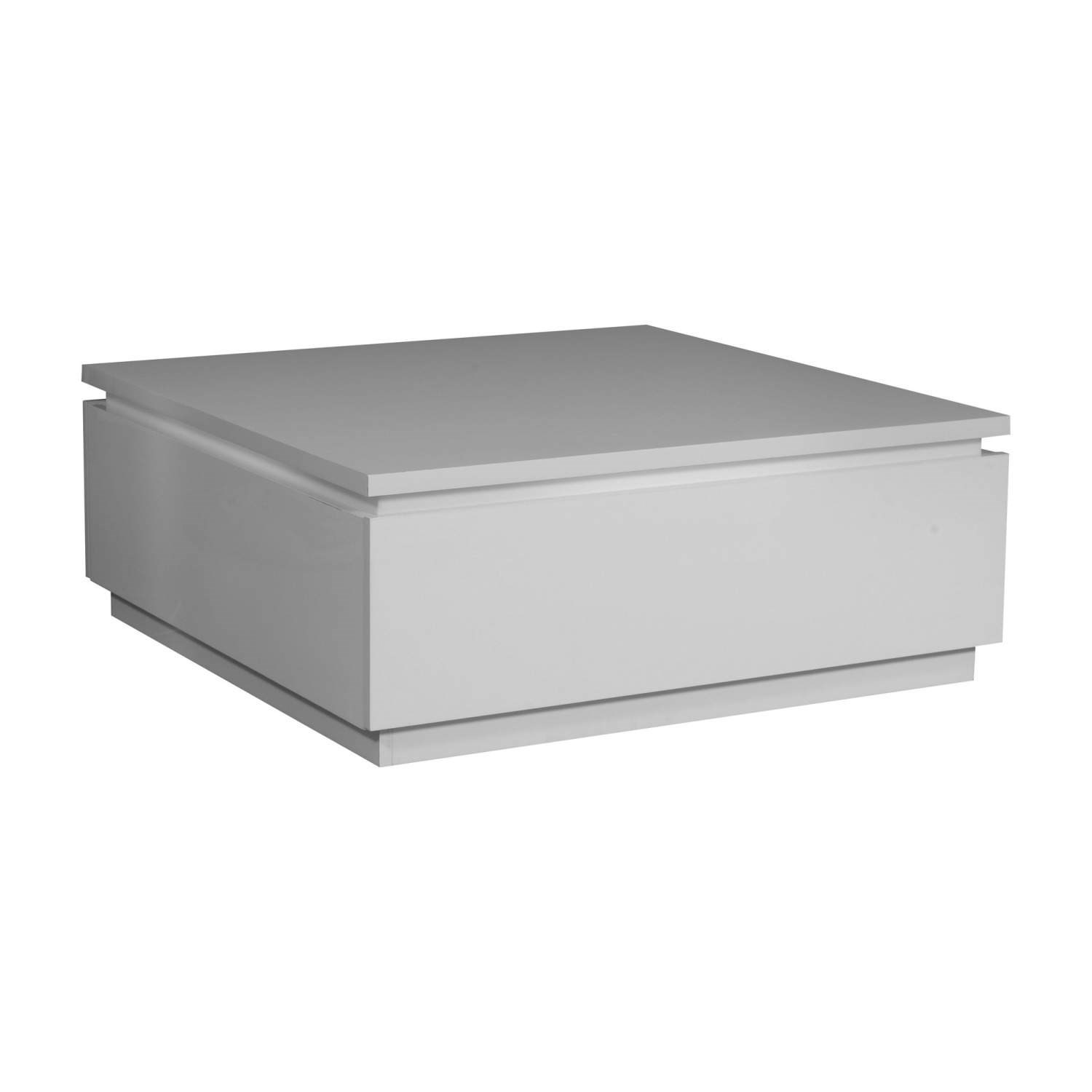 Large White Square High Gloss Skylight Electra Coffee Table Storage Ebay