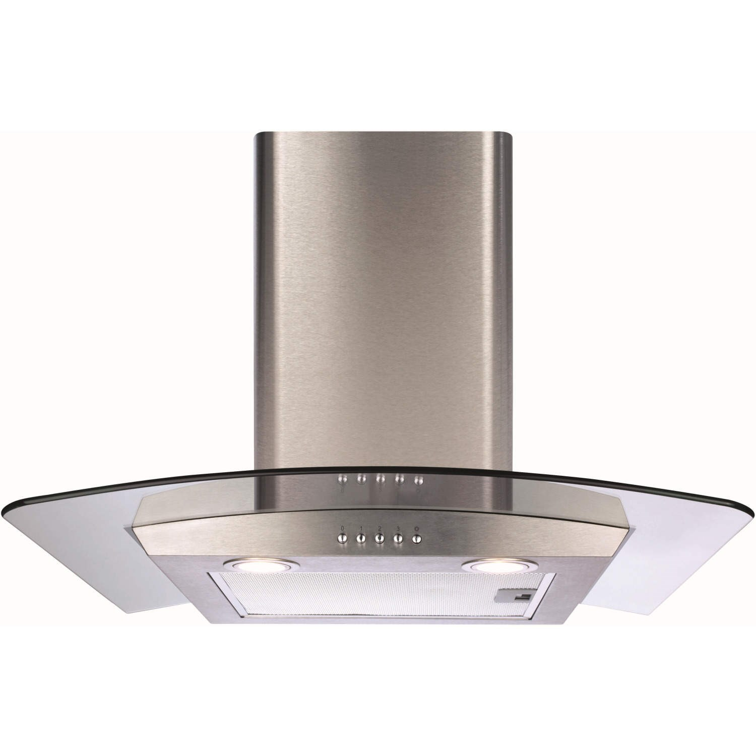 Cooker Hoods Stainless Steel ~ Cda ecp ss curved glass cm chimney cooker hood