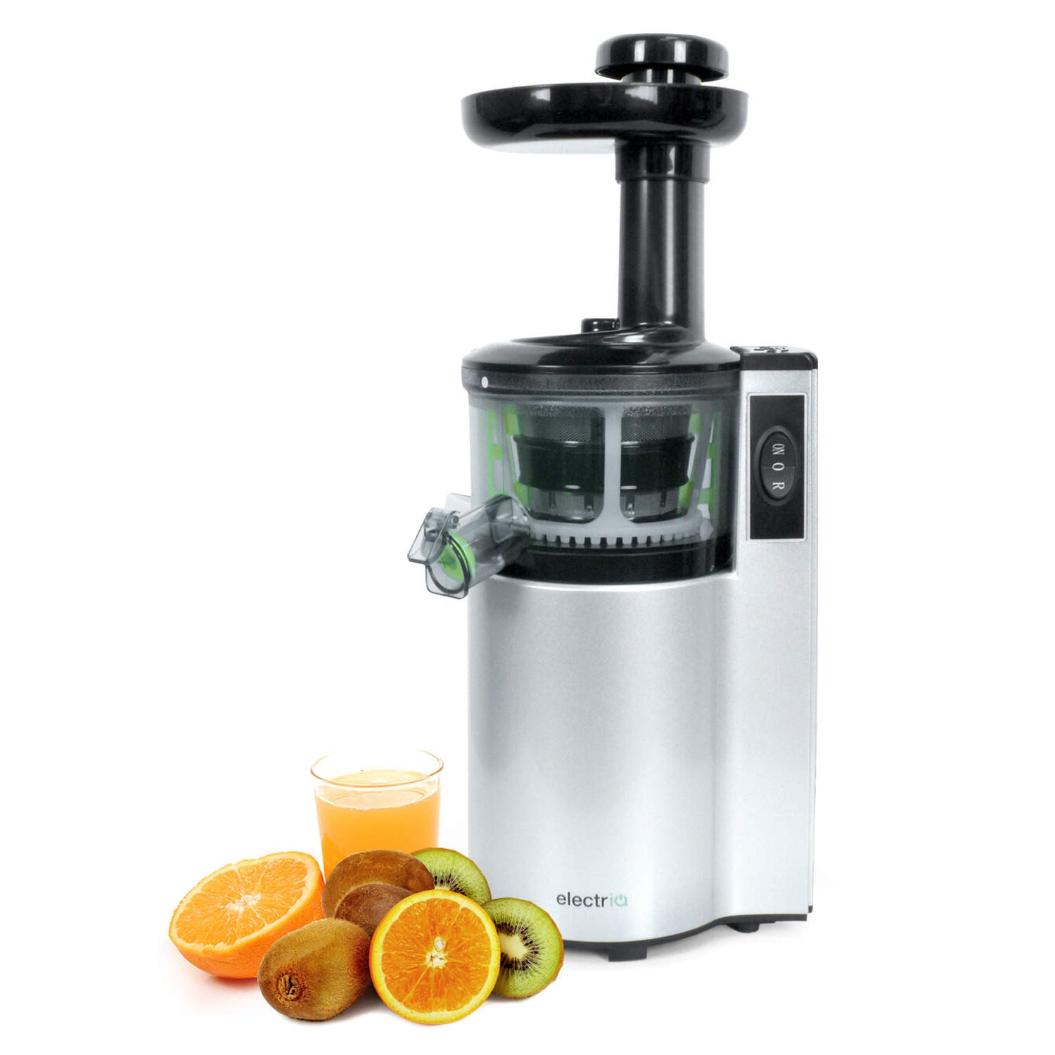 Slow Speed Masticating Juicer : ElectriQ vertical Slow Masticating Juicer Fruit vegetable Juice Extractor eBay